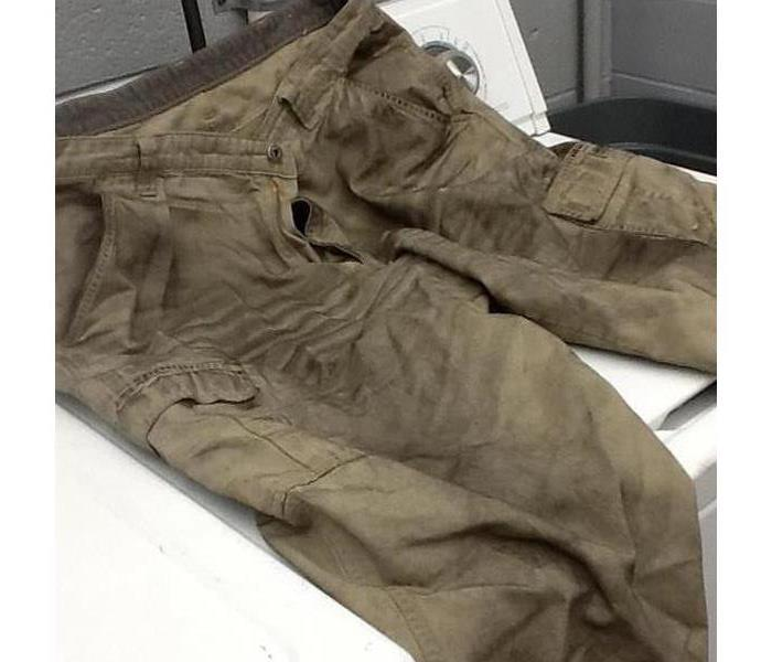 Restored Clothes After a Fire Damage in Fredericksburg, Ohio Before