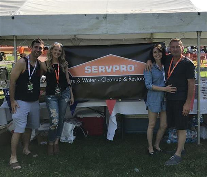 SERVPRO employees pose for a photo