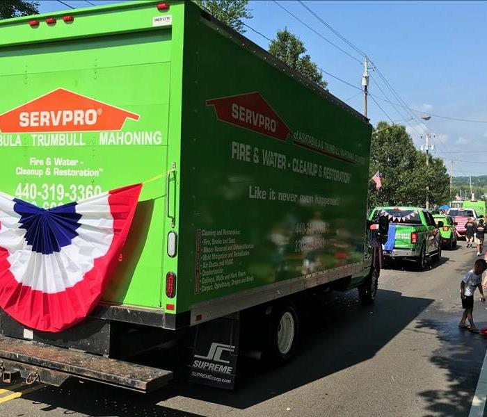Photo of SERVPRO truck in parade