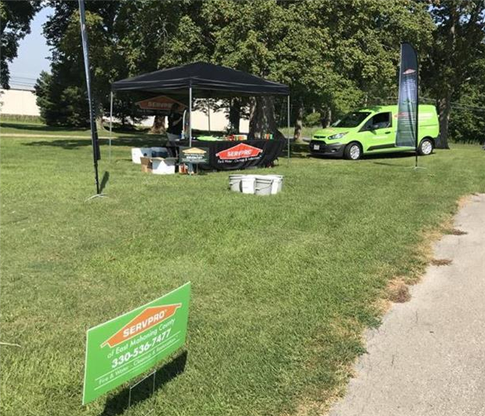 Photo of the SERVPRO tent at the golf outing